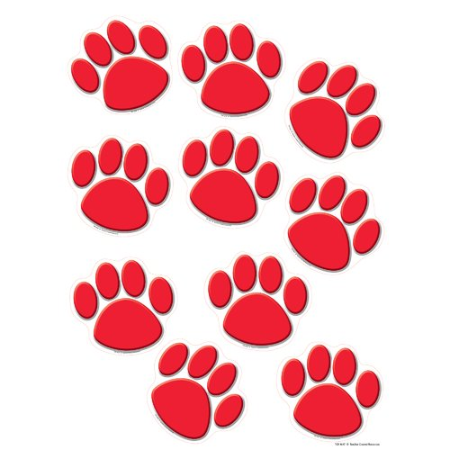 Teacher Created Resources Red Paw Prints Accent