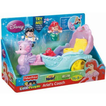 Disney Princess Ariel S Coach By Little People Walmart Com