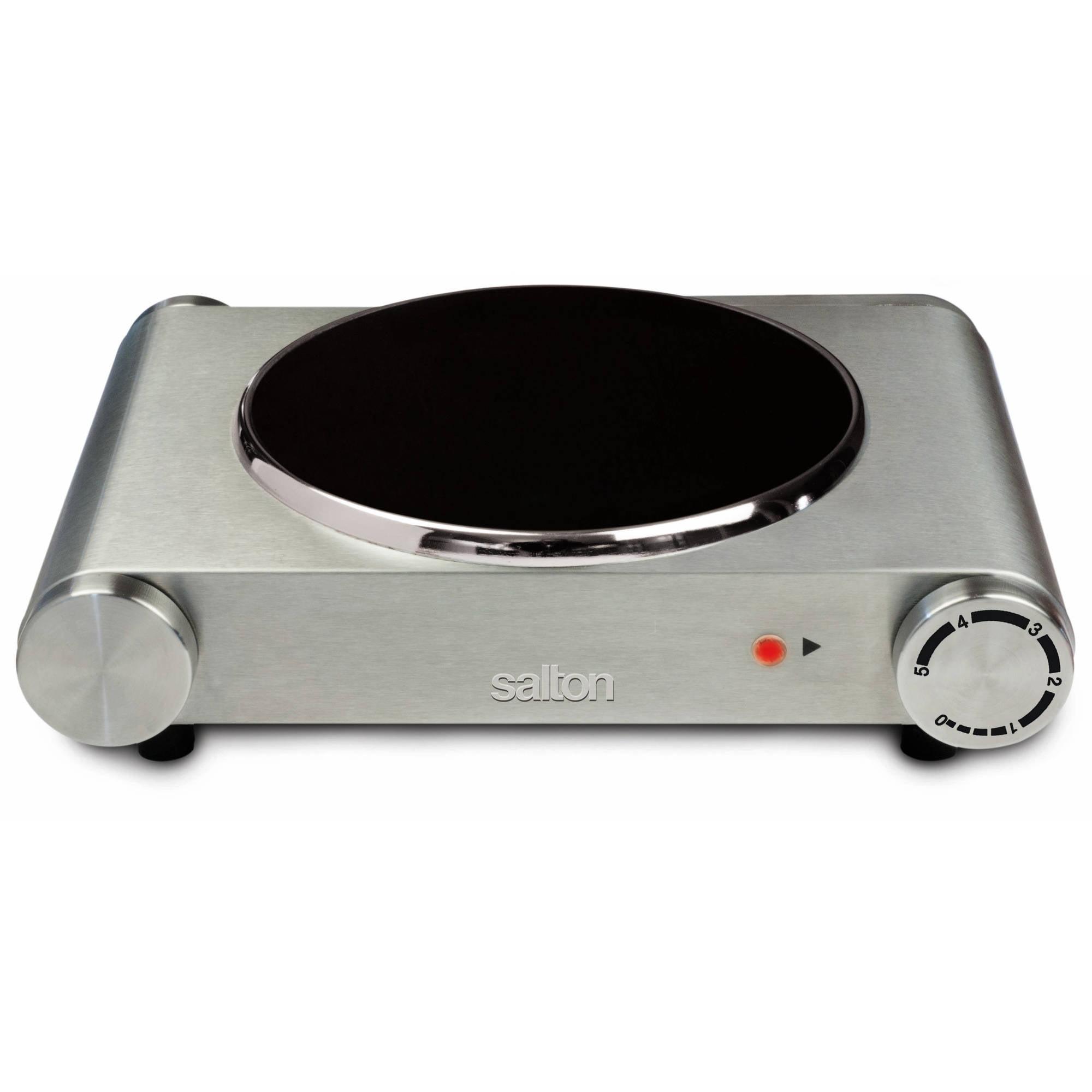 Salton Portable Infrared Cooktop, Single Burner