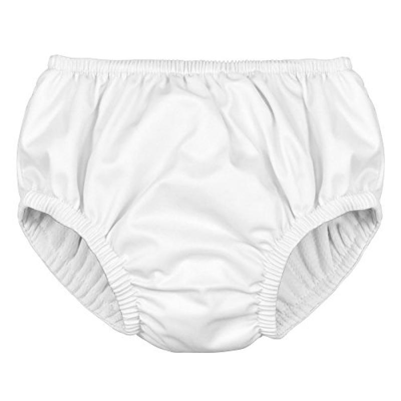 i play. Baby Reusable Absorbent Swim Diaper Pull On White (12 Months, White Pull On)