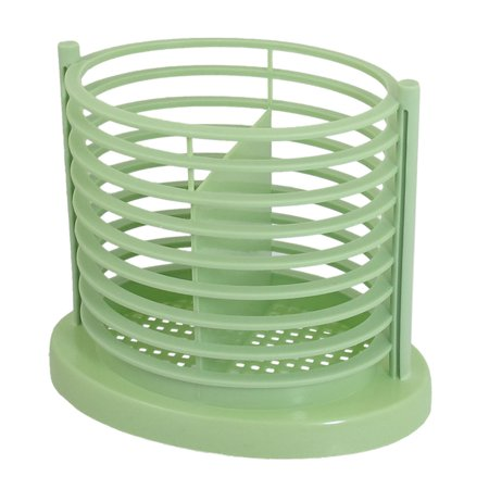 Unique Bargains Multipurpose Pale Green 2 Compartments Stripes Perforated Chopsticks Cage Box - image 1 of 1