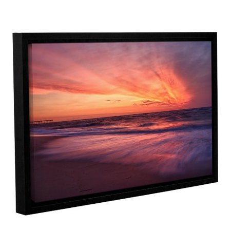 Artwall Outer Banks Sunset Ii By Dan Wilson Framed Photographic Print On Wrapped Canvas