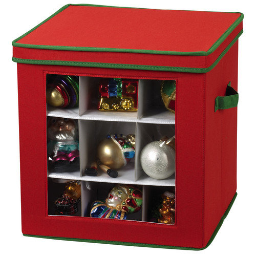 Household Essentials Storage and Organization 27 Piece Holiday Ornament Chest