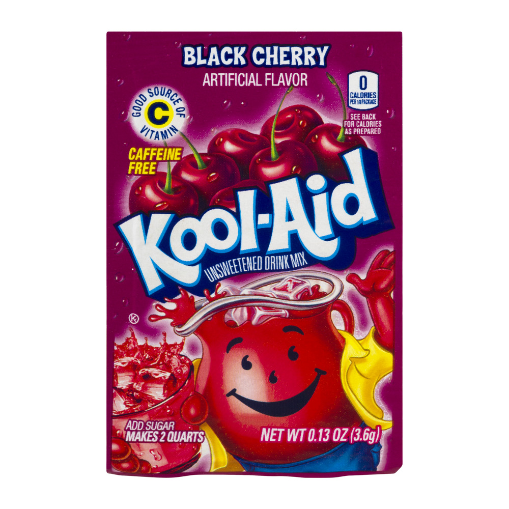 Kool-Aid Black Cherry Unsweetened Drink Mix 0.13 oz. Packet