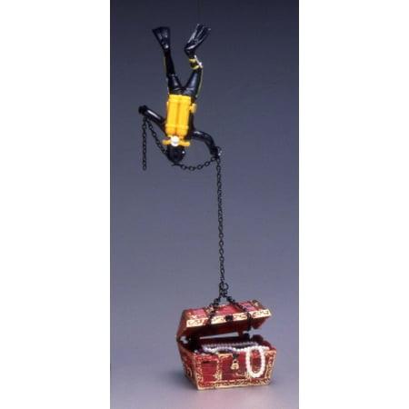 Penn-Plax Action-Air 065 Plastic Treasure Diver Aerating Ornament Jewel Box Package, Multicolor