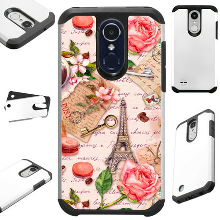 For LG Stylo 3 | LG Stylo 3 Plus Case Hybrid TPU Fusion Phone Cover (Paris (Paris Cast)