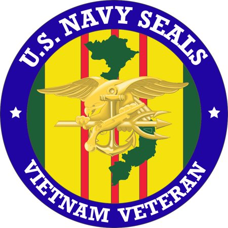 3.8 Inch U.S. Navy Seals Vietnam Veteran Decal Navy Seals Trident Decal