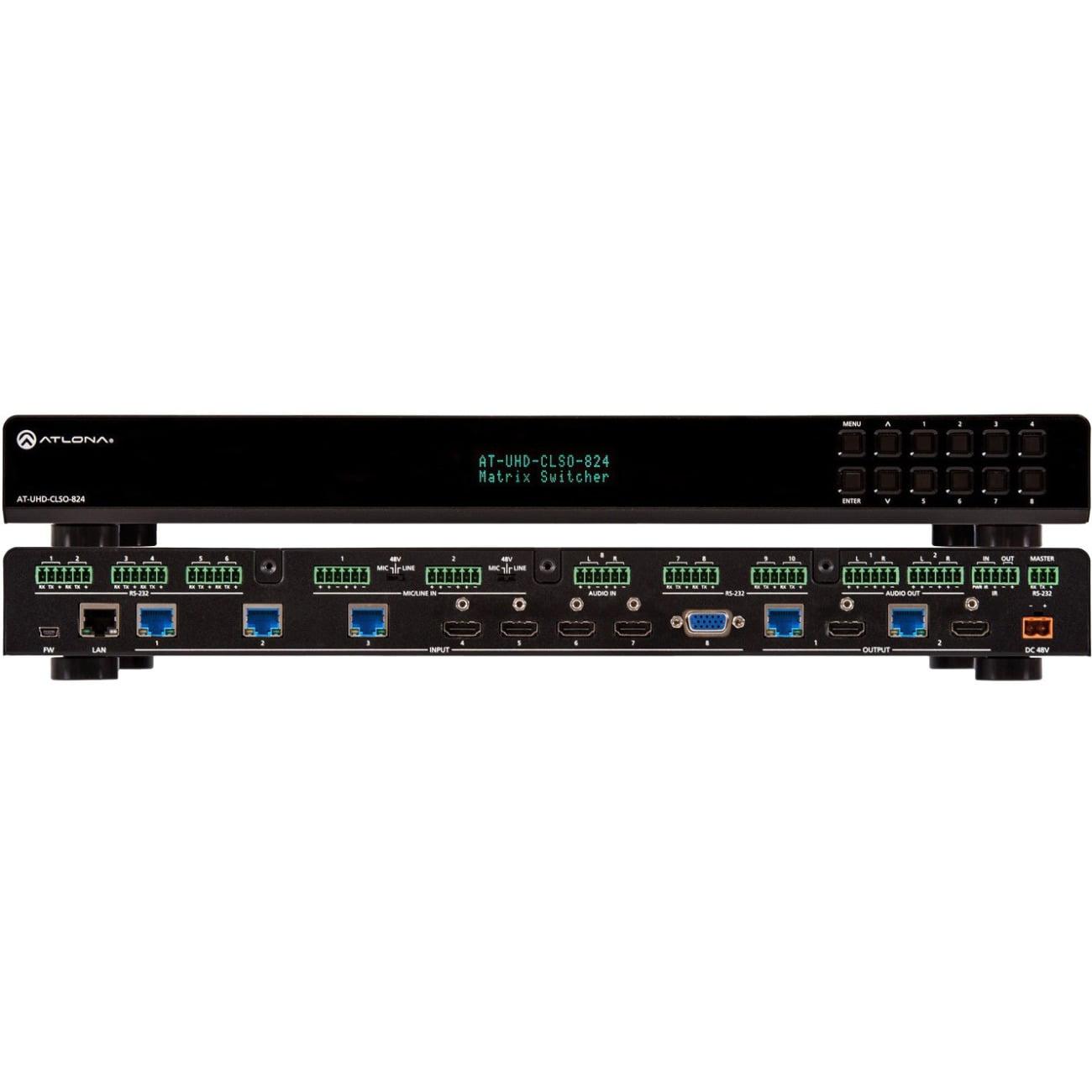 4K/UHD 8��2 Matrix with HDBaseT and HDMI Outputs