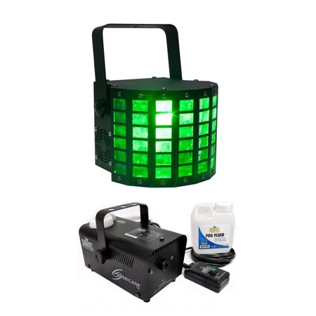 American DJ Mini Dekker RGBW LED Moonflower Light w/ Chauvet DJ H700 Fog