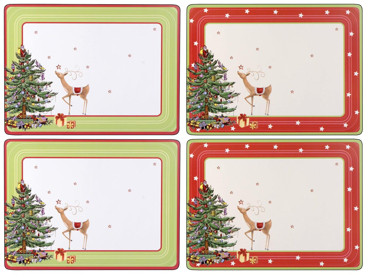 spode christmas jubilee 4 pc placemat set walmartcom