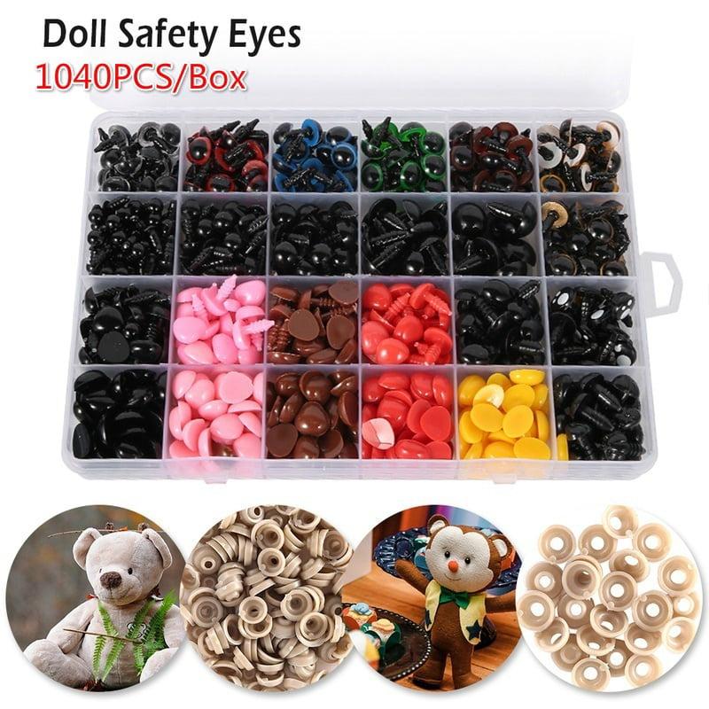 Safety eyes Light Brown 14 mm for plush animal amigurumi bear cat dog plastic eyes