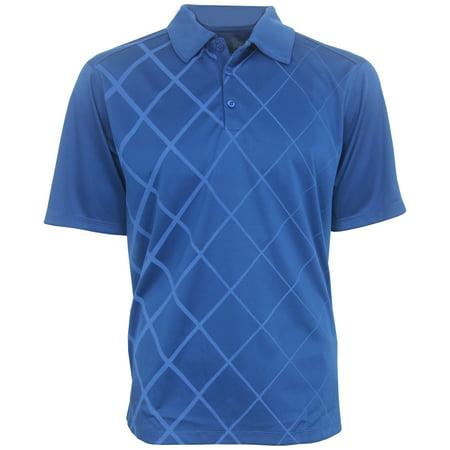 Pga Tour Mens Diamond Print Polo Golf Shirt  Brand New