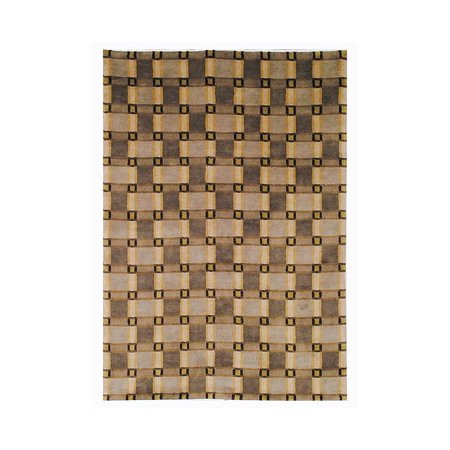 Area Rug In Beige And Green  8 Ft  L X 5 Ft  W