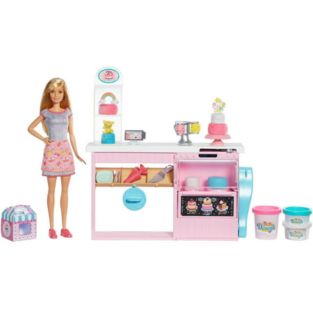 Barbie Cake Decorating Playset with Blonde Baker Doll