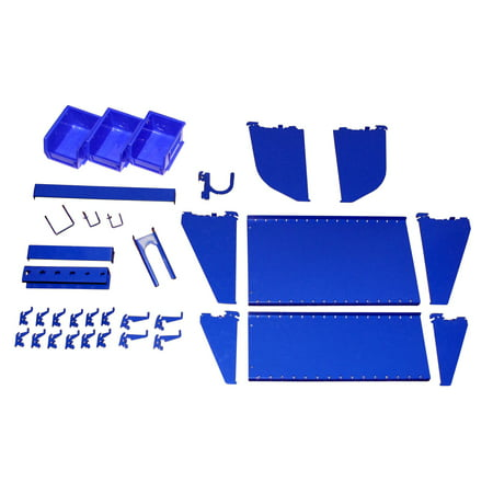 Slotwall Accessory - Wall Control Slotted Tool Board Workstation Accessory Kit for Wall Control Pegboard and Slotted Tool Board Only – Blue