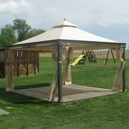 Garden Winds Replacement Canopy Top for Shelter Island Gazebo (Required Island Canopy)