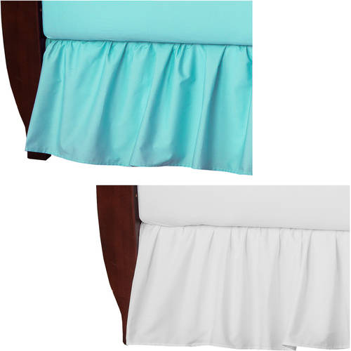 Your Choice TL Care 100 Percent Cotton Percale Crib Bed Skirt, 2 Pack Value Bundle