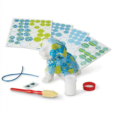 Melissa & Doug Decoupage Made Easy Puppy Paper Mache Craft Kit With Stickers