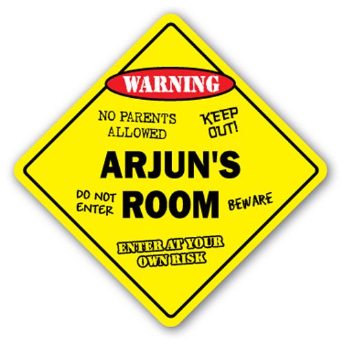 ARJUN'S ROOM SIGN kids bedroom decor door children's name boy girl gift by SignMission