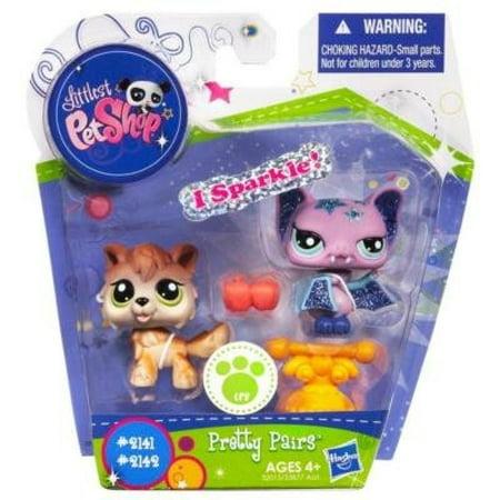Littlest Pet Shop Pretty Pairs Figures Wolf - Pet Bat