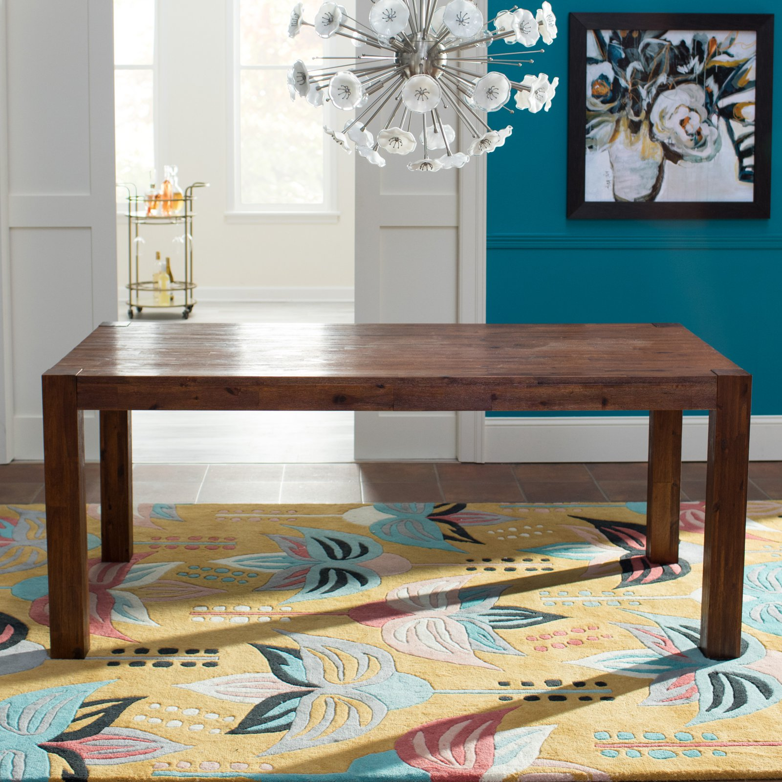 Belham Living Harrison Farmhouse Brushed Espresso Dining Table