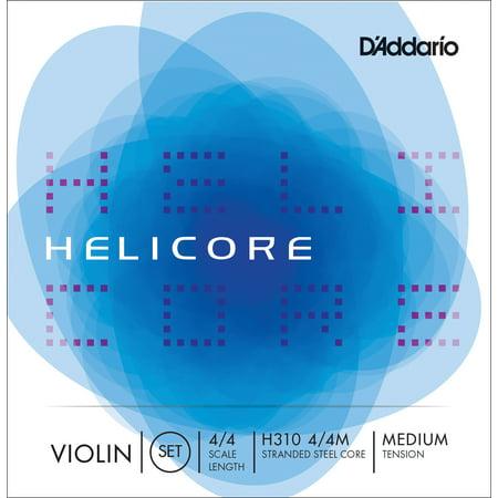 D'Addario Helicore Violin String Set, 4/4 Scale, Medium Tension ()