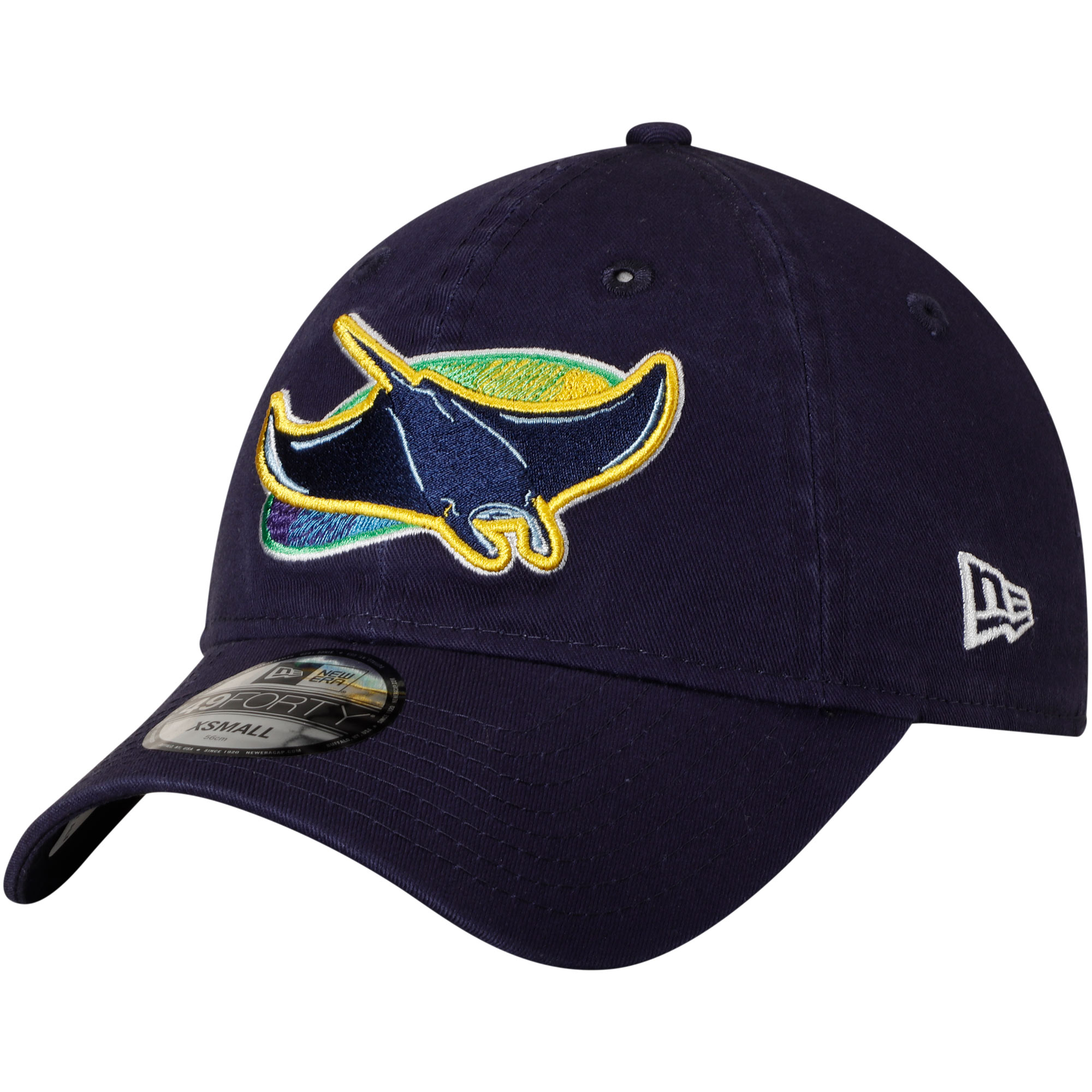 Tampa Bay Rays New Era Core Fit Replica 49FORTY Fitted Hat - Navy
