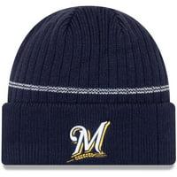 Milwaukee Brewers New Era Primary Logo On-Field Sport Cuffed Knit Hat - Navy - OSFA