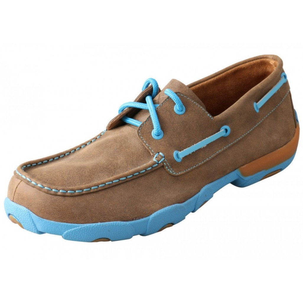 twisted x casual shoes mens driving moc rubber lace up
