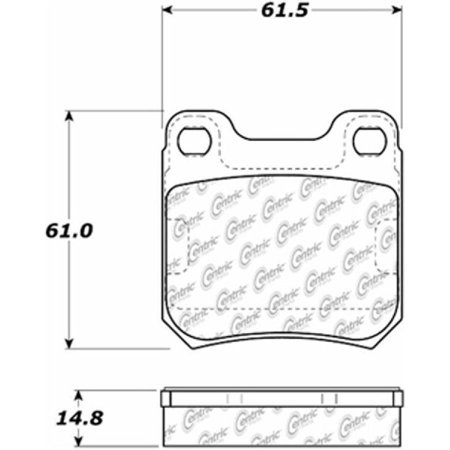 Go-Parts » 2001-2003 Saturn LW300 Rear Disc Brake Pad Set