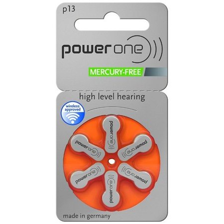 Powerone Hearing aid Batteries Size 13 (60 Pack) (Best Hearing Aid Batteries 13)