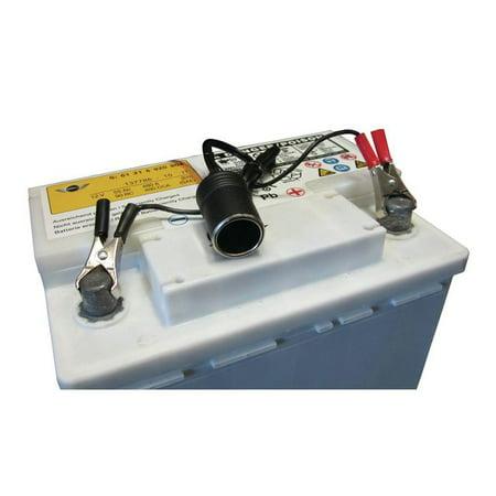 Battery Saver 1' Alligator Clip To Cigarette Lighter/Power Socket Cable