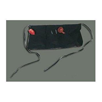 Winco WA-1221 3-Pocket Waist Apron, Black, set of 4