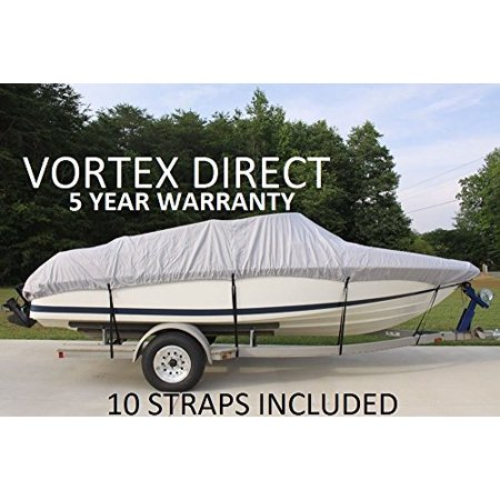 VORTEX HEAVY DUTY VHULL FISH SKI RUNABOUT COVER FOR 17 18 19' BOAT, BEST AVAILABLE COVER