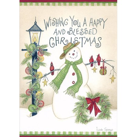 Keepsake Boxed Card (LPG Greetings A Happy and Blessed Christmas: Linda Spivey : 14 Glitter Embellished Christmas Cards in Keepsake Box)