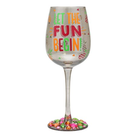 Top Shelf Let The Fun Begin Wine Glass ()