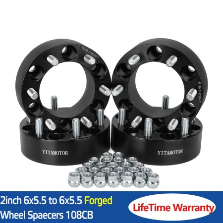 "4Pcs 2"" 6 Lug 6x5.5 Wheel Spacers Adapters For Chevy Silverado 1500 Suburban"