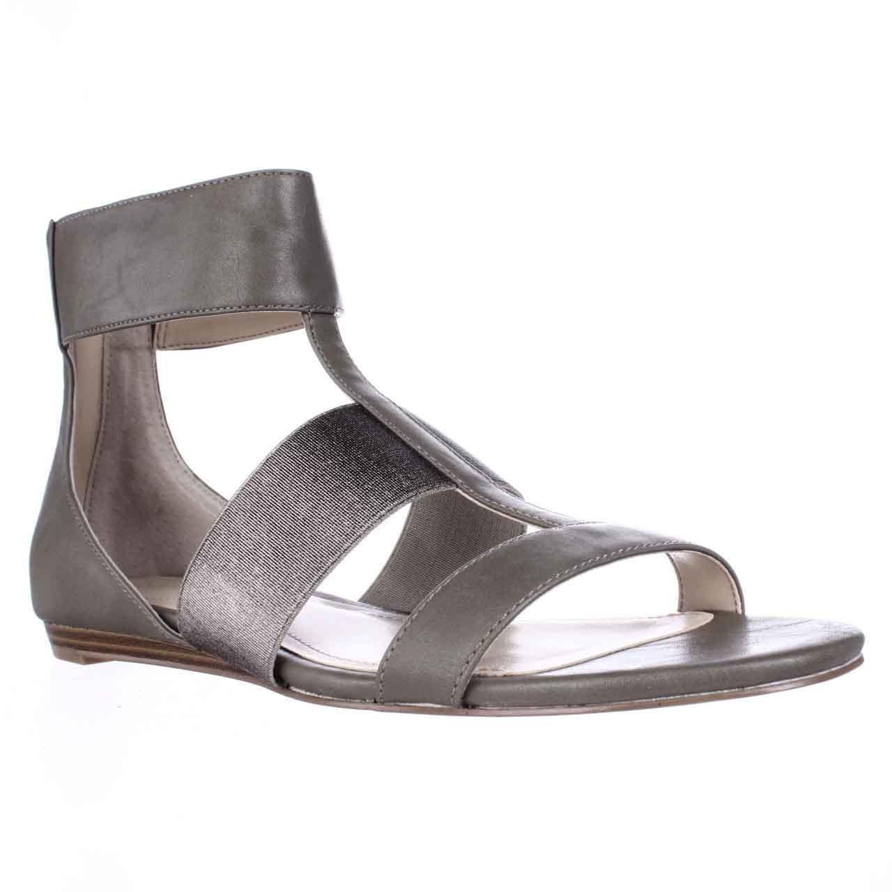 Womens Calvin Klein Sage Elastic Strap Flat Gladiator San...