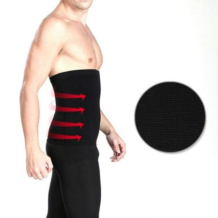 EFINNY Men Tummy Compression Slim Belt Waist Trainer Cincher Body Shapewear Belly Band (Mens Waist Cincher)