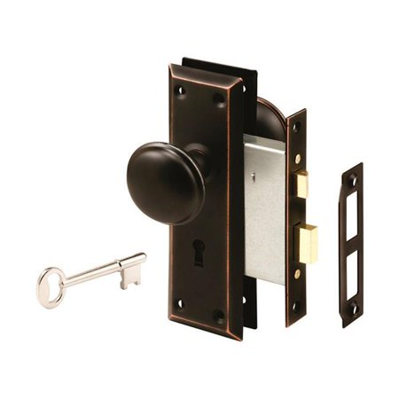 Prime-Line E 2495 Defender Security Mortise Lockset, Oil Rubbed Bronze, Steel