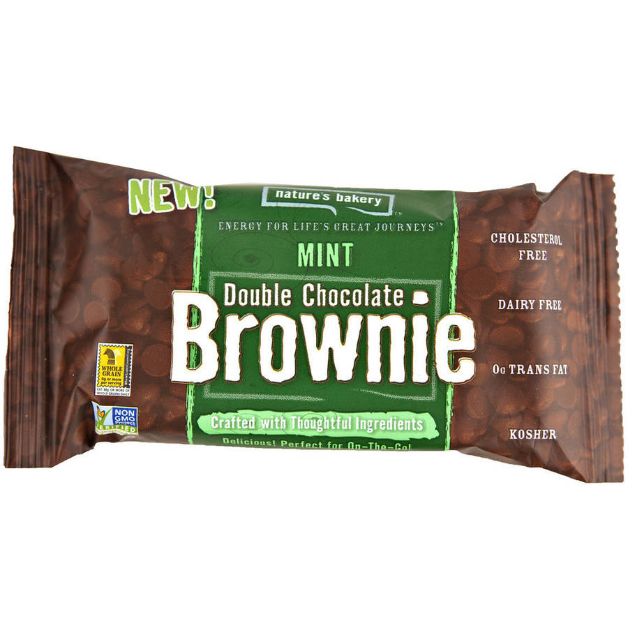 Nature's Bakery Mint Double Chocolate Brownie, 0.75 oz, (Pack of 12)