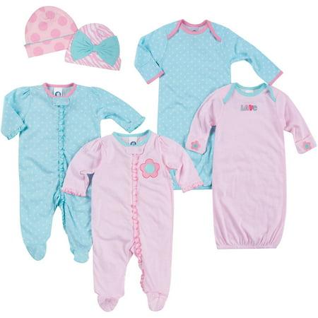 373d1ec43 Gerber - Gerber Newborn Baby Girl Essentials Sleepwear Gift Set