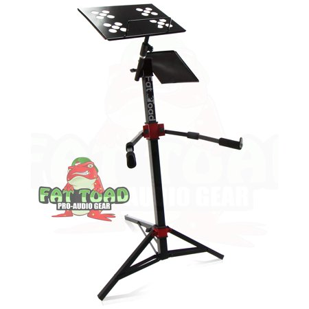 DJ Workstation Stand by Fat Toad Portable, Adjustable Stand Up For Mixer, MIDI Controller Mount, Keyboard, Laptop, Tablet, Synthesizer Table Mount (Multiuse) Pro-Audio Stage Performance Gear