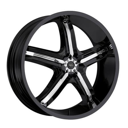 17 Inch Milanni 459 Bel-Air 5 17x7 5x112/5x114.3 +38 Black/Chrome Wheel Rim Black Chrome Mustang Wheels