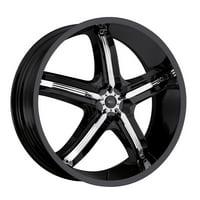 17 Inch Milanni 459 Bel-Air 5 17x7 5x112/5x114.3 +38 Black/Chrome Wheel Rim