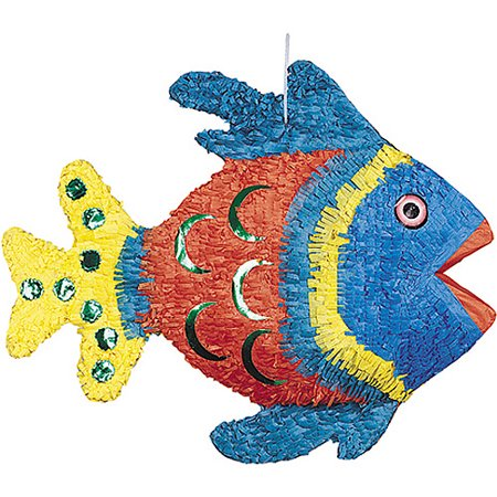 21 Pinata (Angel Fish Pinata, 21 x 14 in, Multicolor,)