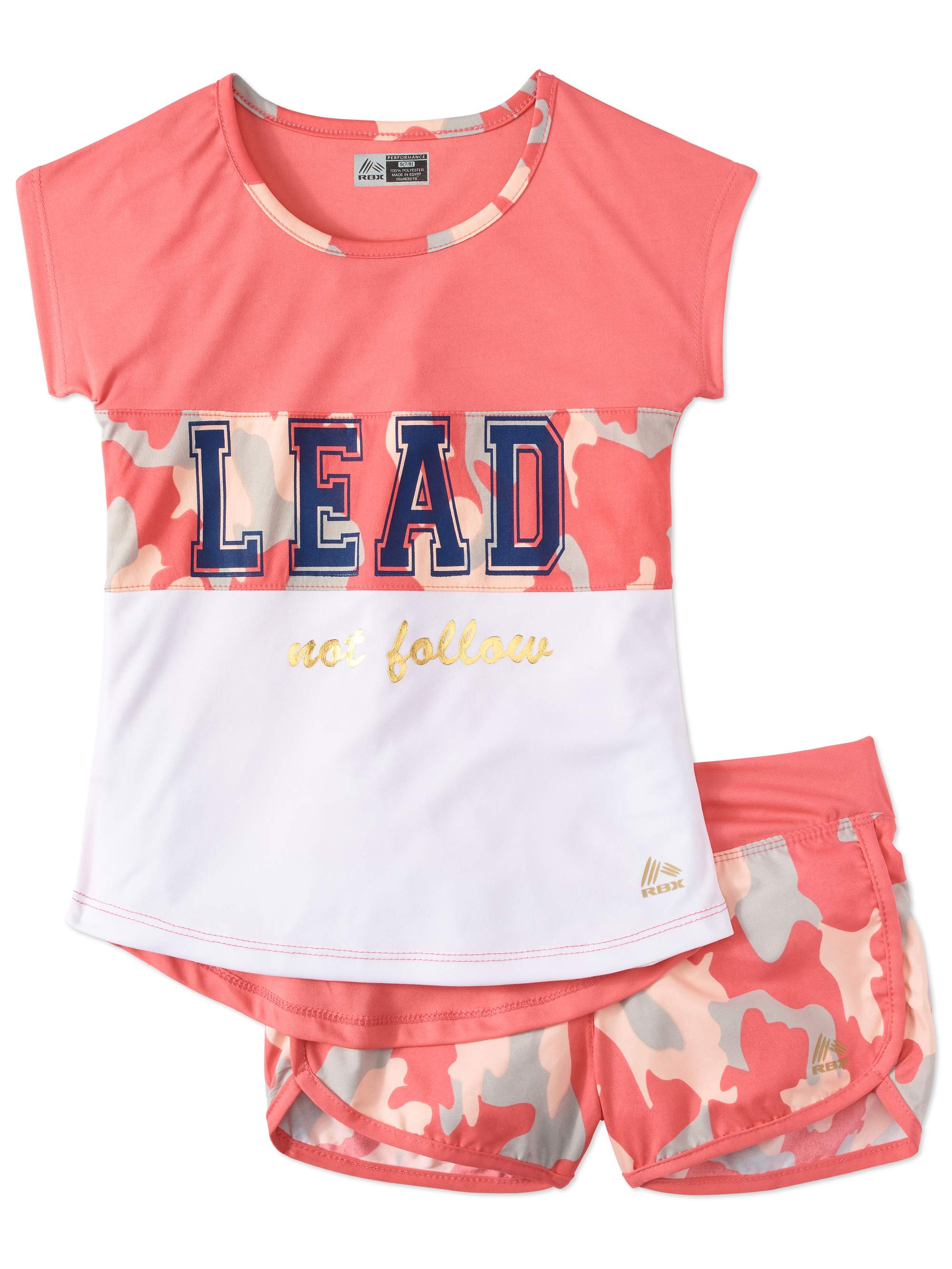 Girls' Graphic Tee and Running Short 2-Piece Active Set