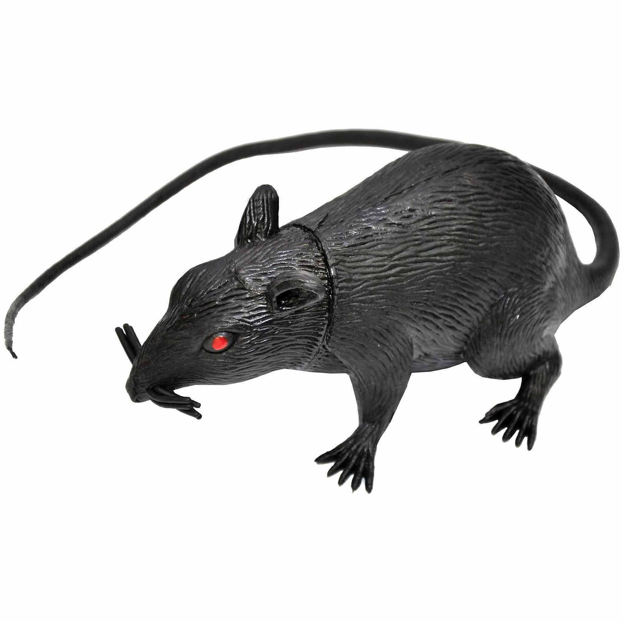 "5"" Vinyl Rat Halloween Decoration"