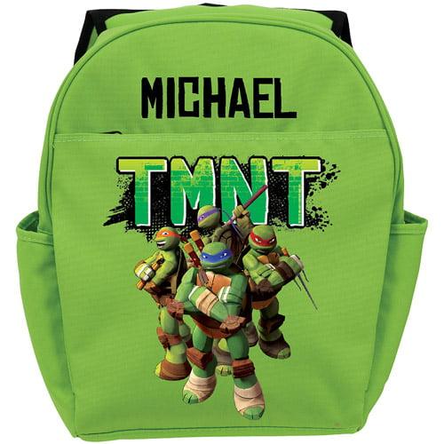 Personalized Teenage Mutant Ninja Turtles Strike a Pose Green Youth Backpack