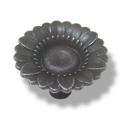 Dark Pewter Daisy Flower Shaped Knob 1-3/8